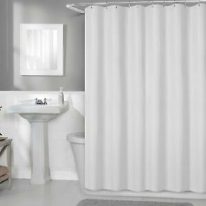 Titan Premium Fabric Shower White Curtain Liner Size 70 In X 72