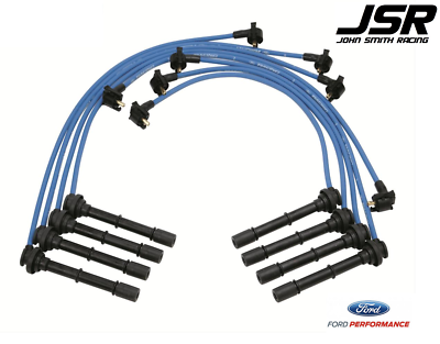 Ford Racing Parts >> 96 98 Mustang Cobra Ford Racing Performance Parts Blue Spark Plug Wires 9mm Ebay