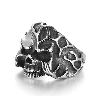 Tribal Spirit Ring Totenkopf Edelstahl Skull Gothic Steampunk Metall