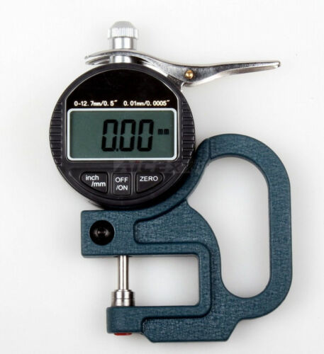 US Digital Display Leather Cloth Thickness Gauge Range 0-10mm Thickness 0.01mm