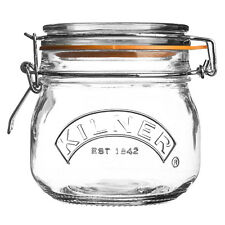Kilner Clip Top Round Preserving Jars for Airtight Food Storage, Pickles & Jam