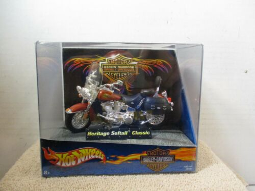 HOT WHEELS ~ MOTORCYCLE ~ HERITAGE SOFTAIL CLASSIC ~ ORANGE ~ #1