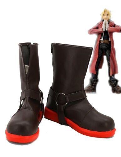 Fullmetal Alchemist Edward Elric Cosplay Costume Red Coat Cape Jacket Boots