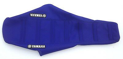 New Yamaha Blue /& Black Ribbed Seat Cover YZ125 YZ250 1996-01