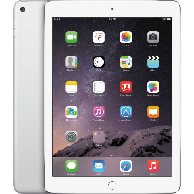 "Apple iPad Air 2 9.7"" Tablet 16GB Wi-Fi - Silver (MGLW2LL/A )"
