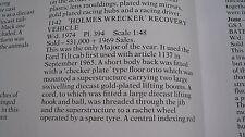 CORGI 1142 HOLMES WRECKER RECOVERY TRUCK SUPERB ORIGINAL BOX FROM 1967-1974.