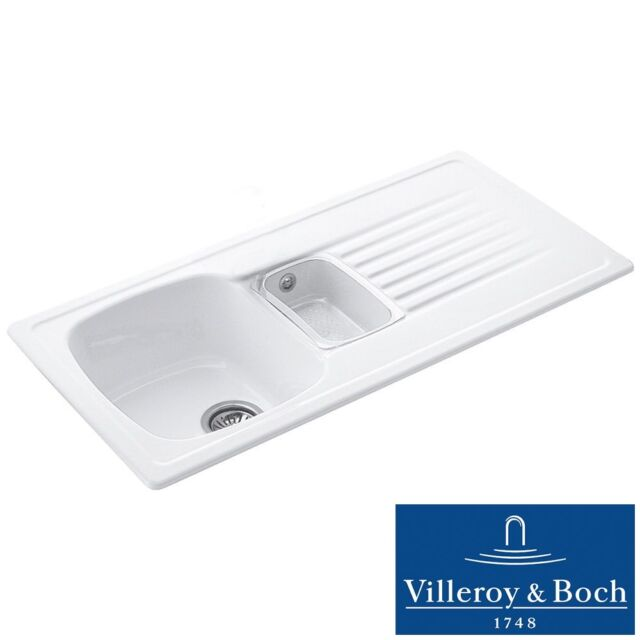 Villeroy & Boch Targa 60 1.5 Bowl White Ceramic Kitchen Sink - No ...