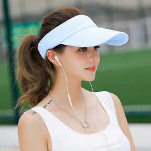 New Women Ladies Golf Sports Tennis Baseball Cap Wide Brim Summer ... b1ad47c6431
