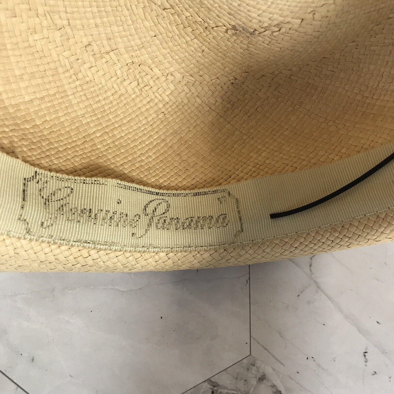 VTG 40s 50s Genuine Panama Wicker Straw Derby Sui… - image 6