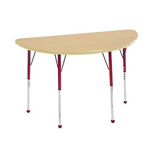 "Standard Legs ECR4Kids Mesa Everyday 24/"" x 48/"" Half Round School Activity Table"