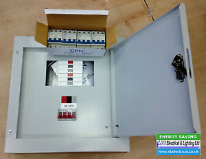 3 PHASE DISTRIBUTION BOARD 4 WAY C/W 125A INCOMER AND 4 TP MCB\'S | eBay