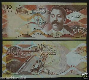 Barbados-Banknote-10-Dollars-2013-UNC