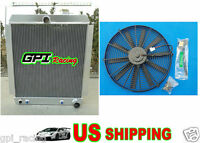 1948-1954 Chevy Pickup Truck Aluminum Radiator At Mt 1949 1950 1951 1952 + Fan