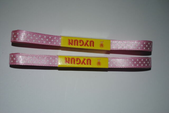 10M.10MM.BABY PINK POLKA DOTS SATIN RIBBON