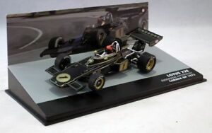 LOTUS-FORD-72E-Emerson-Fittipaldi-P2-1973-F1-voitures-echelle-1-43