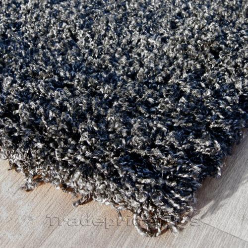 Extra Large épais 5 cm Pile Shaggy Noir Gris Anthracite Anthracite Tapis 200x290