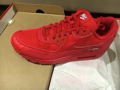 sports shoes 677d2 74f59 Men's Sz 10.5 Nike Air Max 90 Essential Sneakers University Red White  AJ1285 602 | eBay