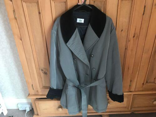 Cappotto imbottito Ladies foderato in Lacoste velluto grigio in petto doppio Cappotto New giacca rXzxUqwAnr
