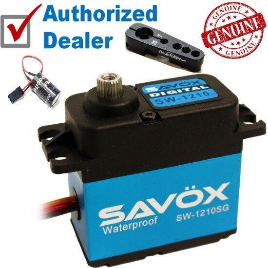 Mega Combo - Savox SW-1210SG Waterproof Servo + Glitch Buster + Aluminun Horn