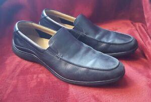 cole haan men's black leather slipon dress casual shoes