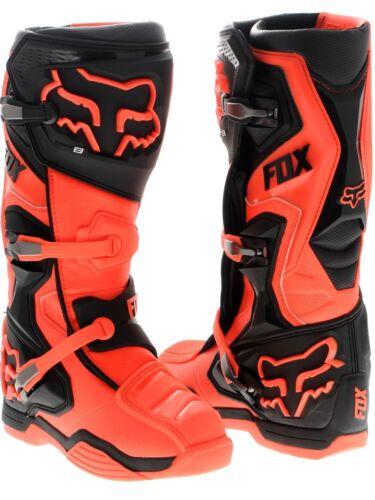 Fox Comp 8  Boots Orange Black Adult Size 8