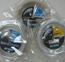3 Coils YONEX 200m Badminton Strings - One Each BG65, BG66 Ultimax, NBG String