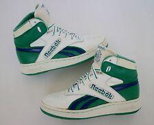 REEBOK Vtg HighTops RARE The Athletes Shoe R706 HSC White Green / Blue Size 6