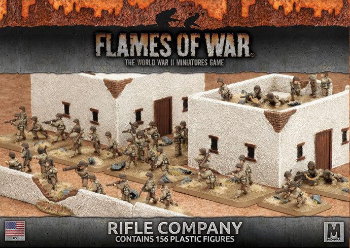 Flames of War-American  rifle Company (plástico) UBX58