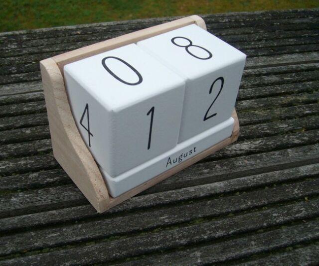 Ewiger Kalender, Tischkalender, Holz+MDF, Impressionen Versandkostenfrei