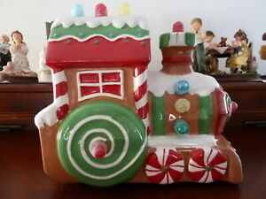 2008-Hallmark-Christmas-Musical-Express-Gumdrop-Lights-Gingerbread-Train-EUC