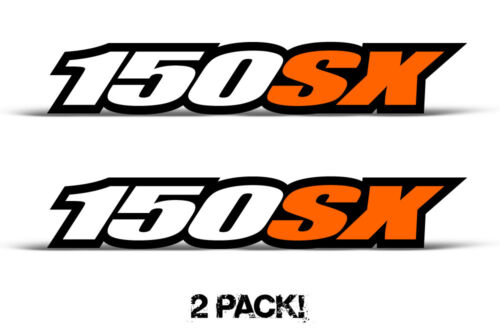 Swingarm Decal sticker graphics kit for KTM 150SX 150 Tank  2PC 1.5x6.5 Orange