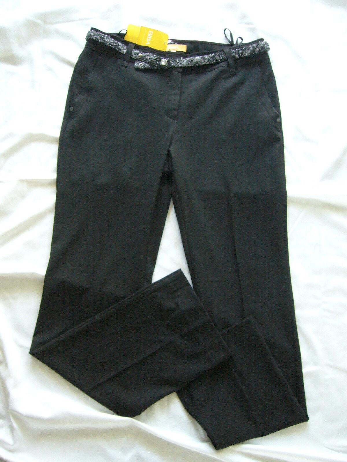 Biba Pantaloni fashion night Anthra con cintura tg. 38 -- con NUOVO 941cde ee8b82ee888d