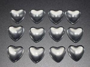 100 Transparent Round Flatback Glass Cabochon Dome 8mm No Hole