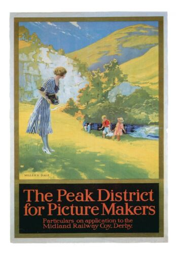 Derbyshire 1 Railway Vintage Retro Oldschool Old Good Price Poster