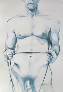 LOWELL-NESBITT-034-WORKING-OUT-034-Hand-Signed-Limited-Edition-Large-Lithograph-Art
