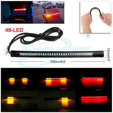 48 LED Bike Light Strip Tail Brake Turn Signal Red & Amber For Yamaha FZ-S FI