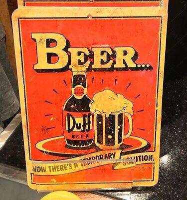 Universal Studios Exclusive The Simpsons Duff Beer Beer Can Shaped Metal Cup New