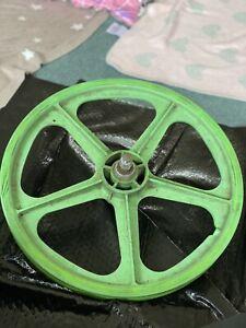 Green-Skyway-Bmx-Mag-Wheels-Retro-80-s-Old-School-5-Spoke-GC-Raleigh-Burner