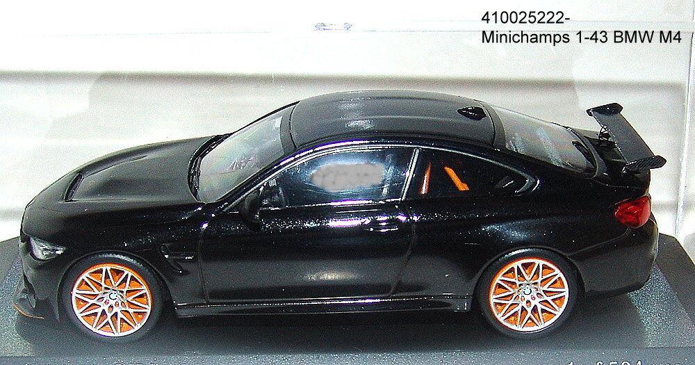 MINICHAMPS 410025222 - BMW M4 GTS 2016 noir métallisé - 1 43