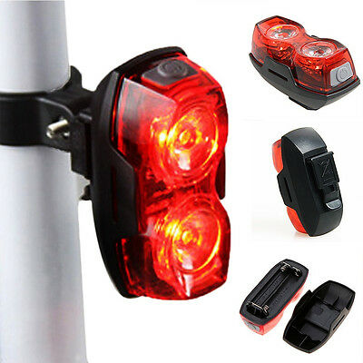 New Bike Bicycle Cycling 2 LED 3 Mode Tail Lights Safety Flashing Rear Lights