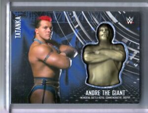WWE-Tatanka-2017-Topps-RTWM-Blue-Andre-Battle-Royal-Memorial-Relic-Card-SN-22-50
