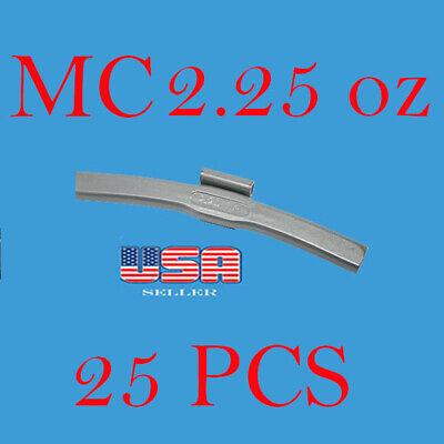 25 Pcs Clip-on Wheel Weight Balance 2.25 Oz 2.25 Oz Mc Style For Alloy Wheel