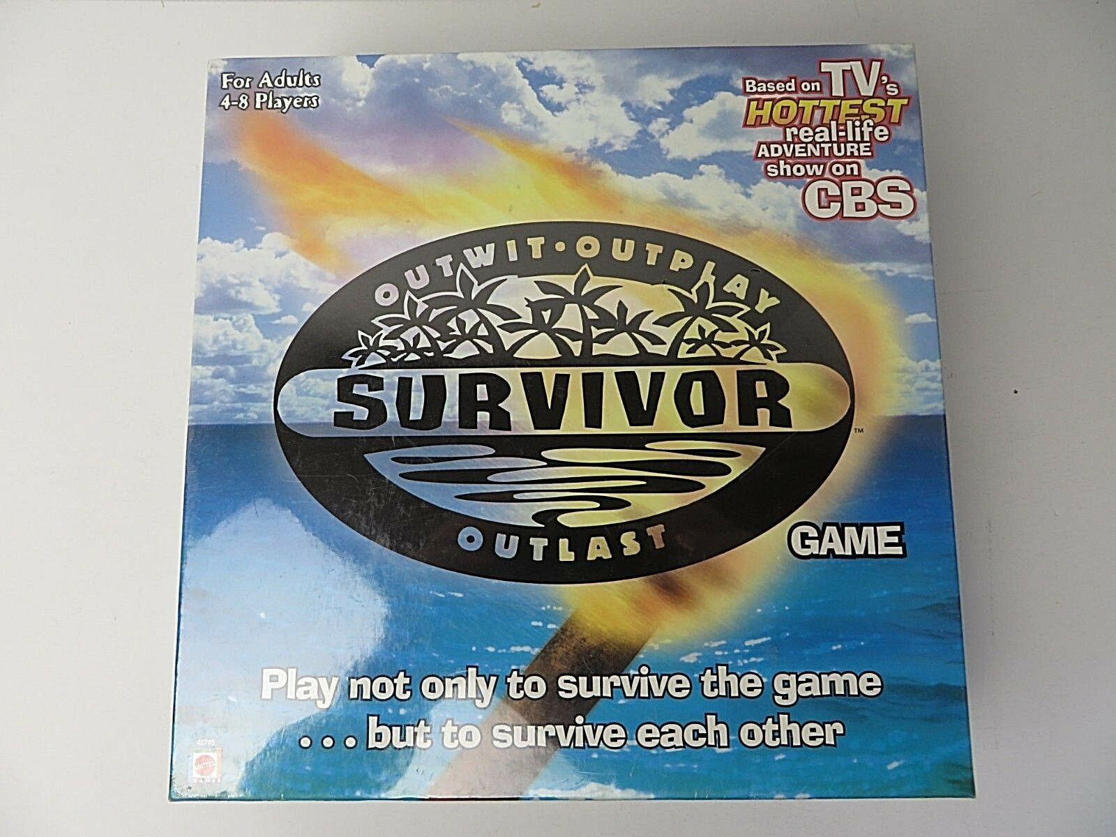 Mattel Survivor Outwit Outplay Outlast Game 2000 New Sealed   9512