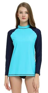 Women-Long-Sleeve-Rash-Guard-Swimwear-Quick-Dry-Surfing-UV-Protection-UPF-50
