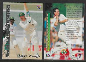 STEVE-WAUGH-Australia-1994-FUTERA-ASHES-SUPER-SERIES-CRICKET-CARD-SS6