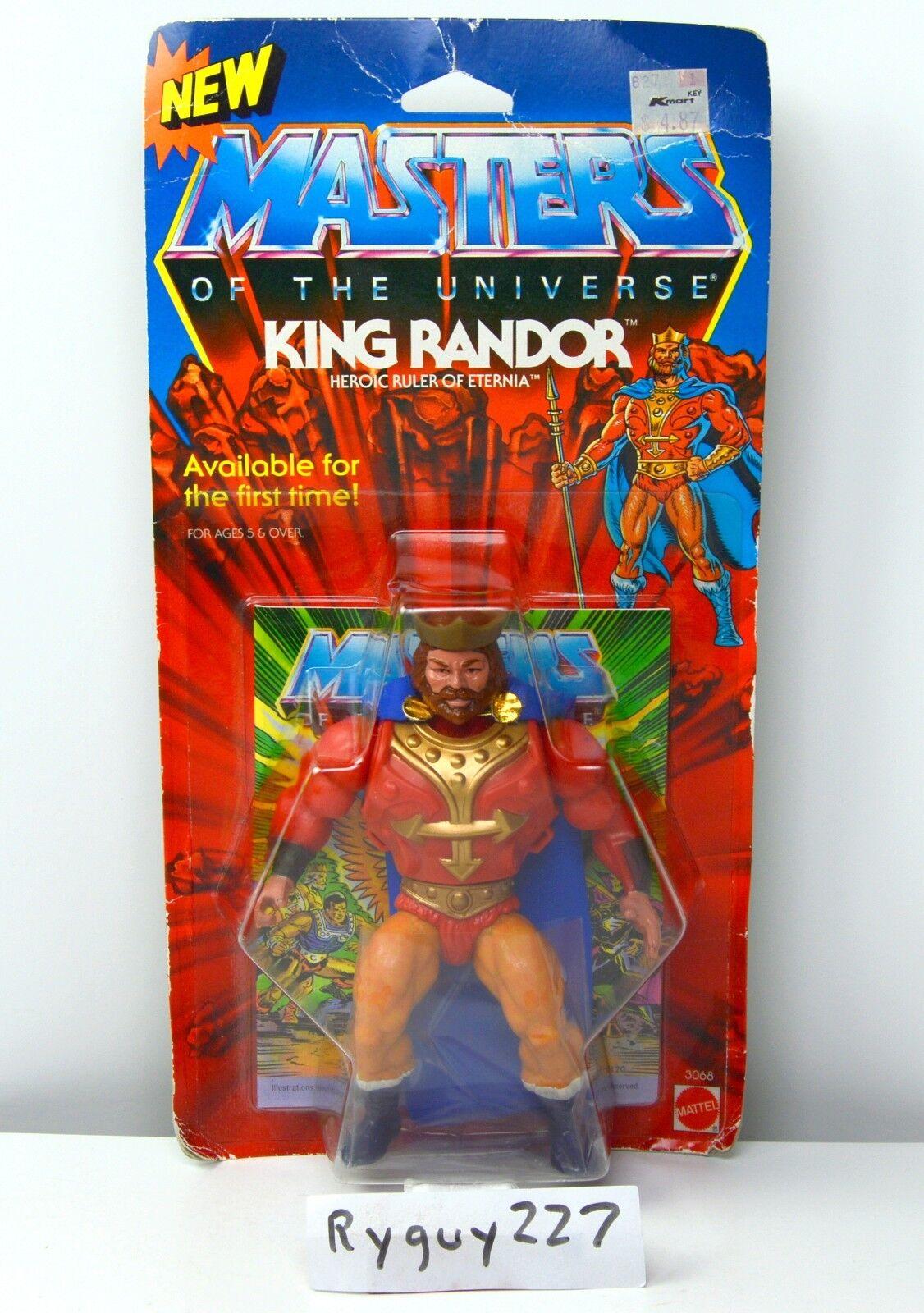 Amos del universo Rey Randor, Amos del Universo, MOC, cardado, figura, él hombre, Sellado
