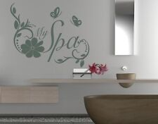 My Spa Quote with Flowers and Butterflies - highest quality wall decal stickers