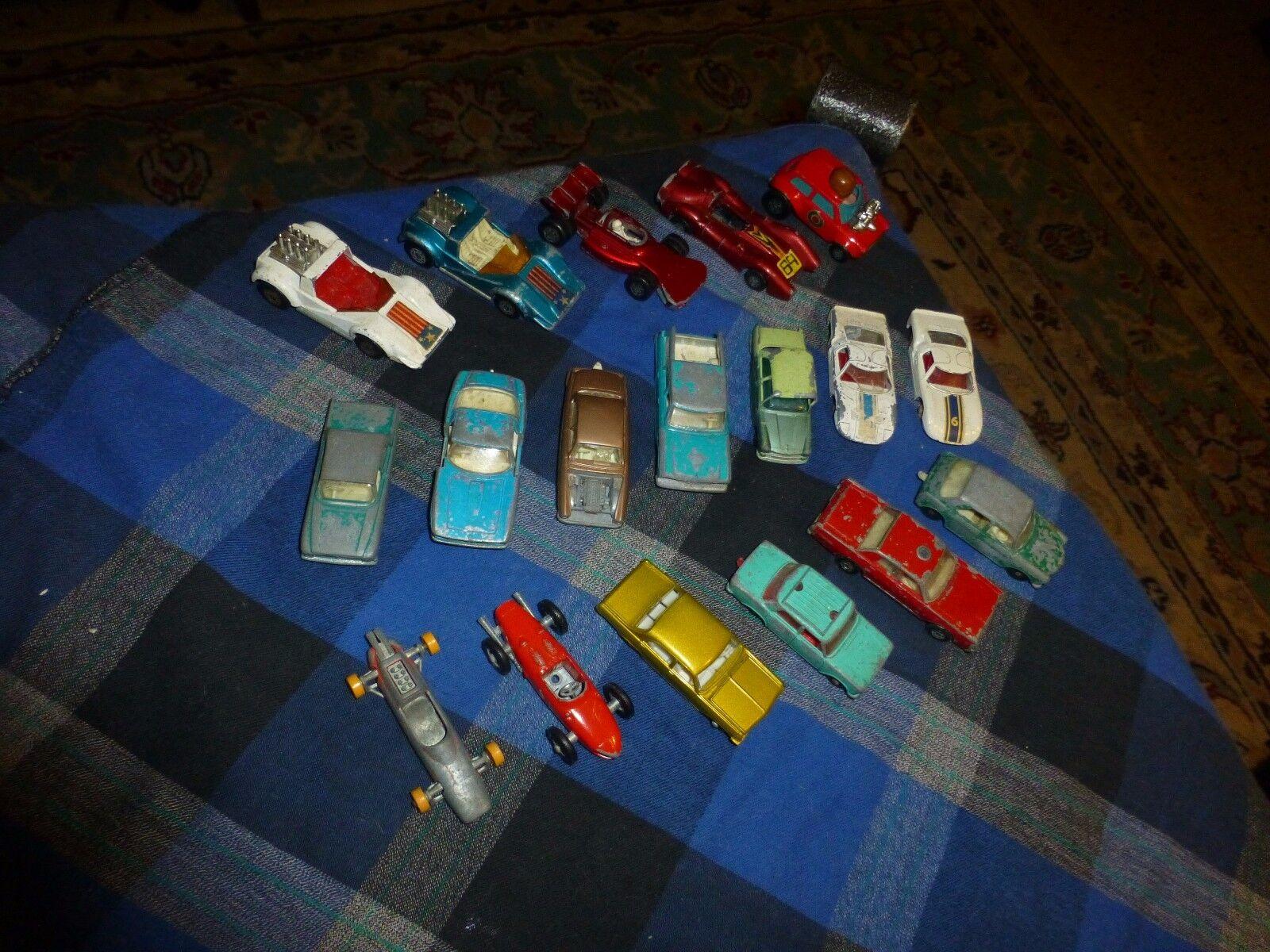Vintage Lesney MATCHBOX Diecast JUNKYARD CAR COLLECTION Lot Of 18 Cars England