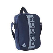 adidas Mens Linear Performance Organiser Shoulder Small Messenger Bag Black  Blue 115ffc69d1d7b