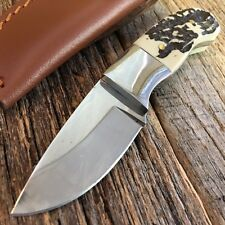 """6"""" HUNTER OUTDOOR Full Tang REAL STAG Handle Fixed Blade Hunting Knife New!"""